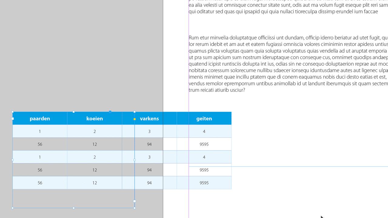 160327 0002 stap2 | Tabel met afgeronde hoeken