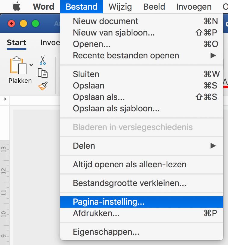 190210 0003 Stap 01 | Word bestand opslaan als pdf zonder witte rand