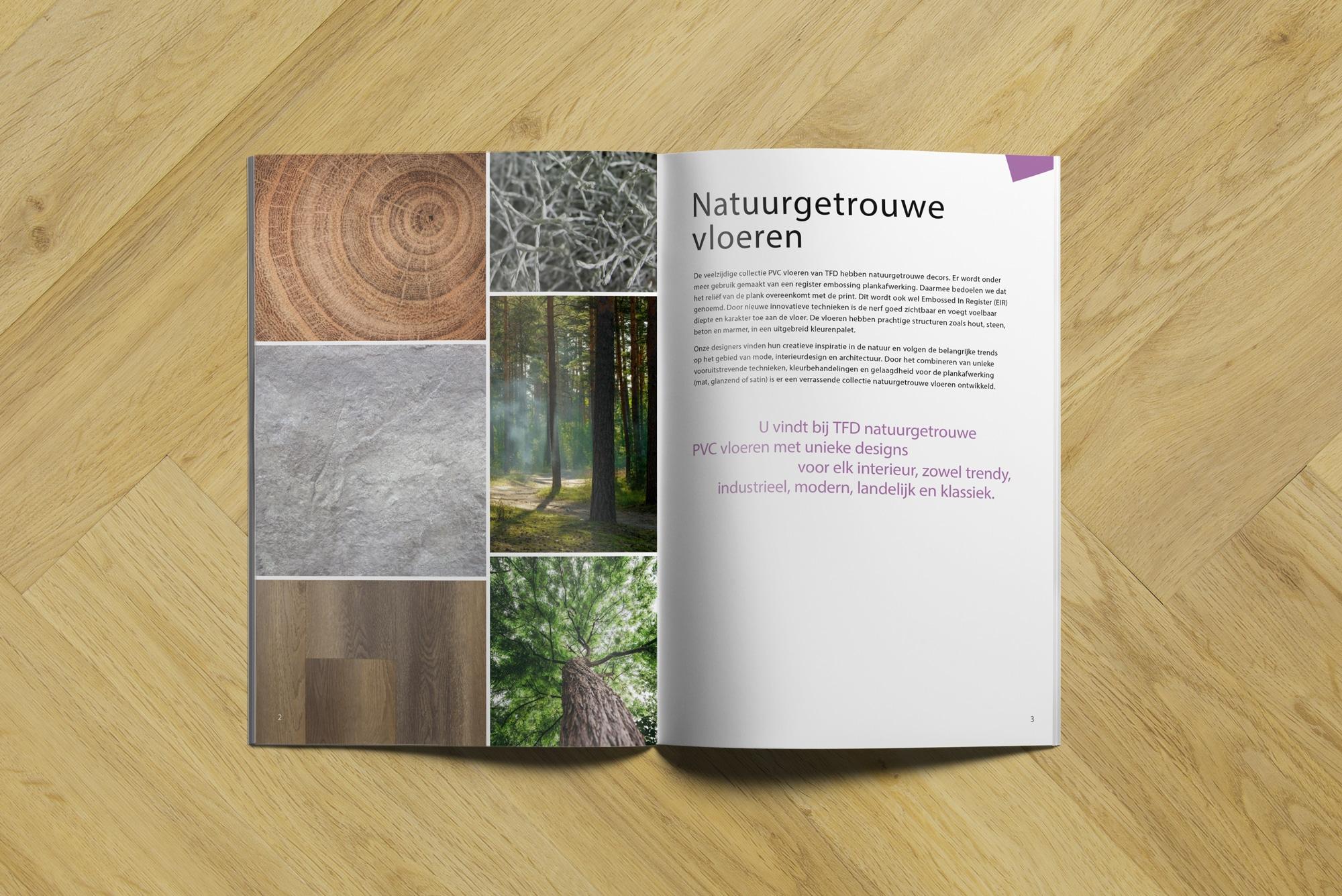brochure TFD 2 3 | TFD Floortile Productbrochure PVC vloeren