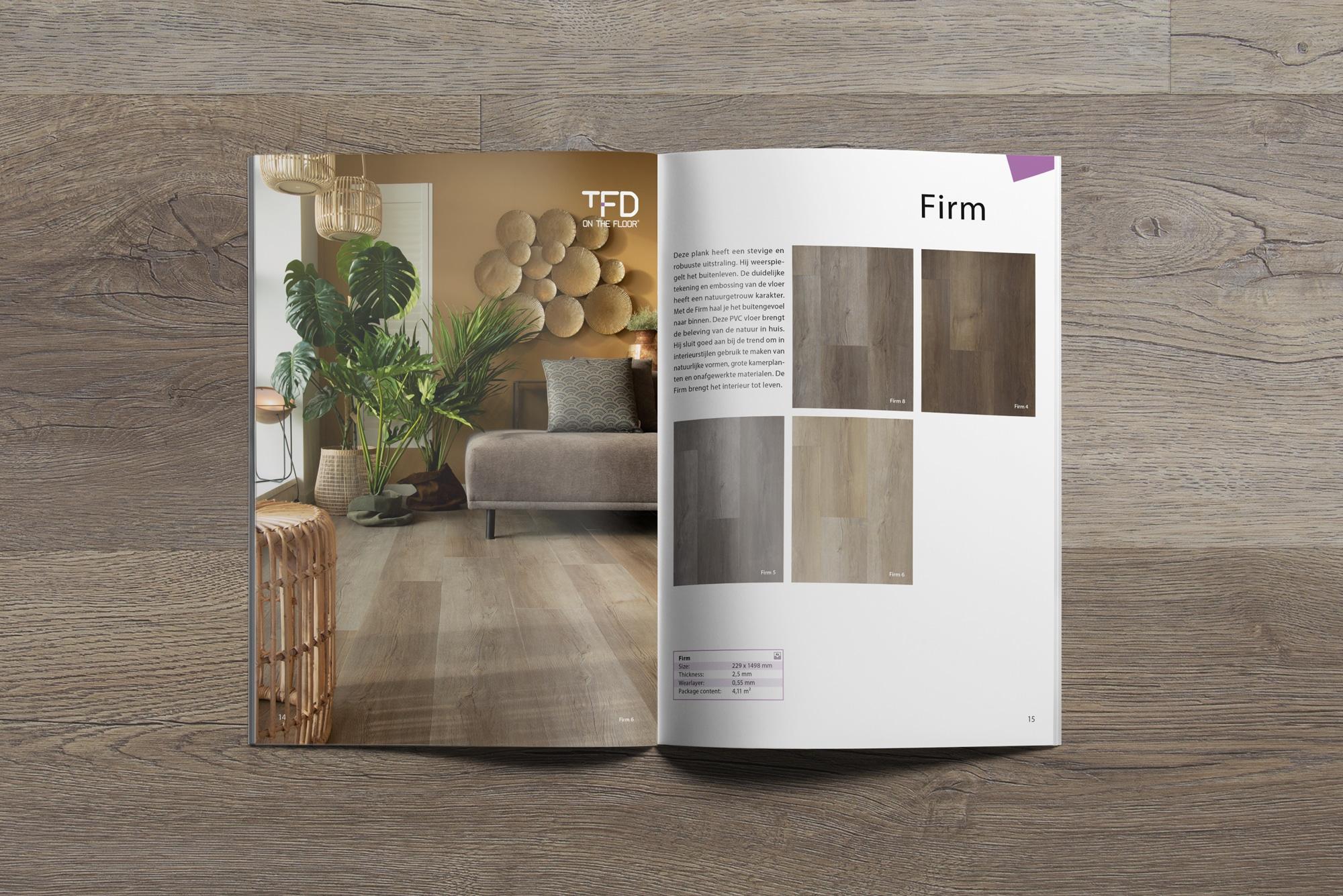 brochure TFD Firm 14 15 | TFD Floortile Productbrochure PVC vloeren