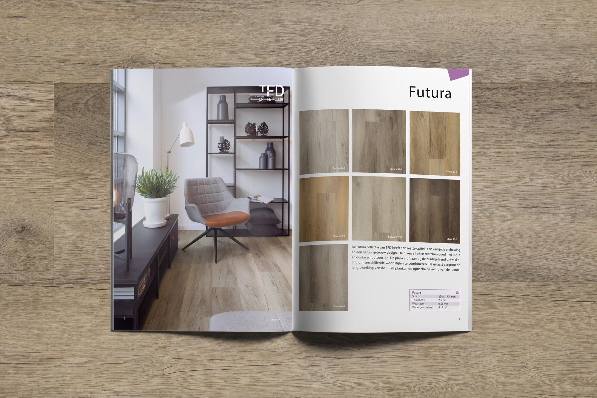 brochure TFD Futura 6 7 | TFD Floortile Productbrochure PVC vloeren