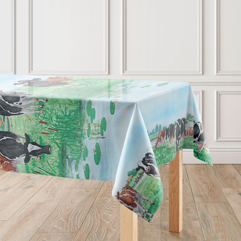 Tafelkleed mockup Koeien | Hoe Jan Sikkes razendsnel zijn tafels dekt
